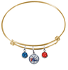 Philadelphia 76ers GOLD Color Edition Expandable Wire Bangle Charm Bracelet
