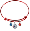 Philadelphia 76ers RED Color Edition Expandable Wire Bangle Charm Bracelet