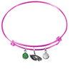Philadelphia Eagles Pink NFL Expandable Wire Bangle Charm Bracelet