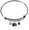 Philadelphia Flyers Color Edition BLACK Expandable Wire Bangle Charm Bracelet