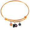 Philadelphia Flyers Color Edition ORANGE Expandable Wire Bangle Charm Bracelet