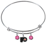 Philadelphia Flyers NHL Expandable Wire Bangle Charm Bracelet