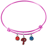 Philadelphia Phillies Pink MLB Expandable Wire Bangle Charm Bracelet