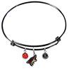 Phoenix Coyotes Color Edition BLACK Expandable Wire Bangle Charm Bracelet