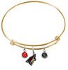 Phoenix Coyotes Color Edition GOLD Expandable Wire Bangle Charm Bracelet
