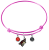 Phoenix Coyotes Color Edition PINK Expandable Wire Bangle Charm Bracelet
