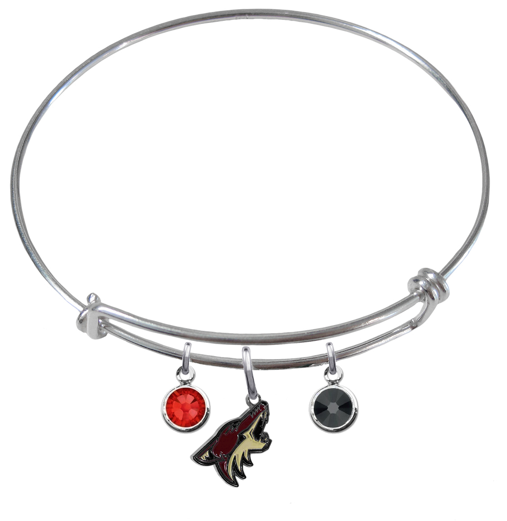 Phoenix Coyotes NHL Expandable Wire Bangle Charm Bracelet