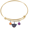 Phoenix Suns GOLD Color Edition Expandable Wire Bangle Charm Bracelet