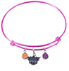 Phoenix Suns PINK Color Edition Expandable Wire Bangle Charm Bracelet