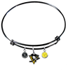 Pittsburgh Penguins Color Edition BLACK Expandable Wire Bangle Charm Bracelet