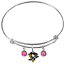 Pittsburgh Penguins NHL Expandable Wire Bangle Charm Bracelet