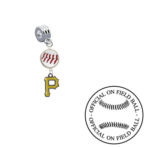 Pittsburgh Pirates On Field Baseball Universal European Bracelet Charm (Pandora Compatible)
