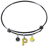 Pittsburgh Pirates Black MLB Expandable Wire Bangle Charm Bracelet