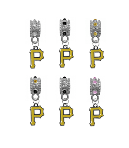 Pittsburgh Pirates MLB Baseball Crystal Rhinestone European Bracelet Charm