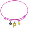 Pittsburgh Pirates Pink MLB Expandable Wire Bangle Charm Bracelet