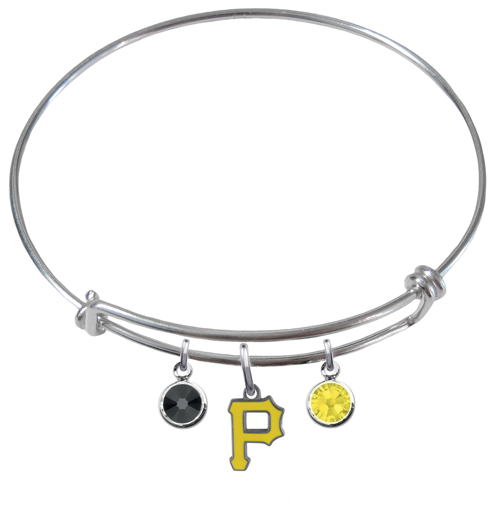 Pittsburgh Pirates MLB Expandable Wire Bangle Charm Bracelet