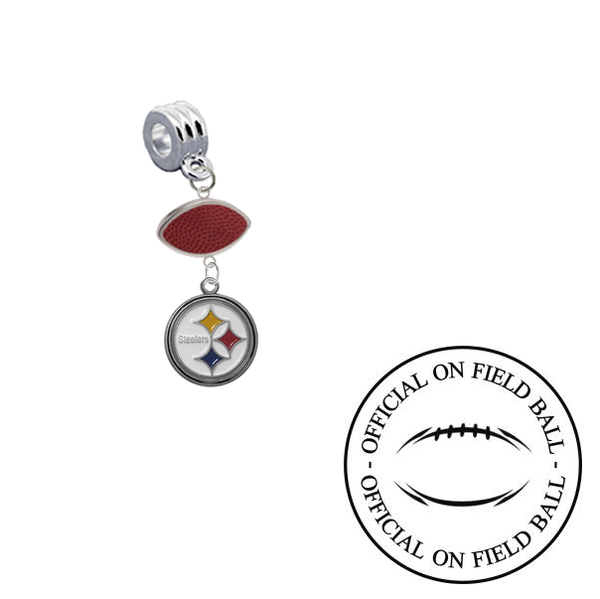 Pittsburgh Steelers On Field Football Universal European Bracelet Charm (Pandora Compatible)