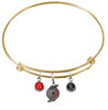 Portland Trail Blazers GOLD Color Edition Expandable Wire Bangle Charm Bracelet