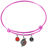 Portland Trail Blazers PINK Color Edition Expandable Wire Bangle Charm Bracelet