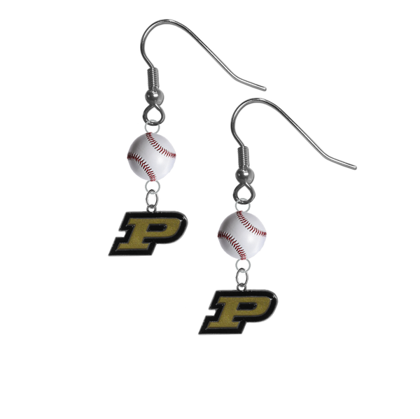 Purdue Boilermakers NCAA Baseball Dangle Earrings