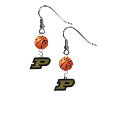 Purdue Boilermakers NCAA Basketball Dangle Earrings