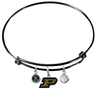 Purdue Boilermakers BLACK Expandable Wire Bangle Charm Bracelet