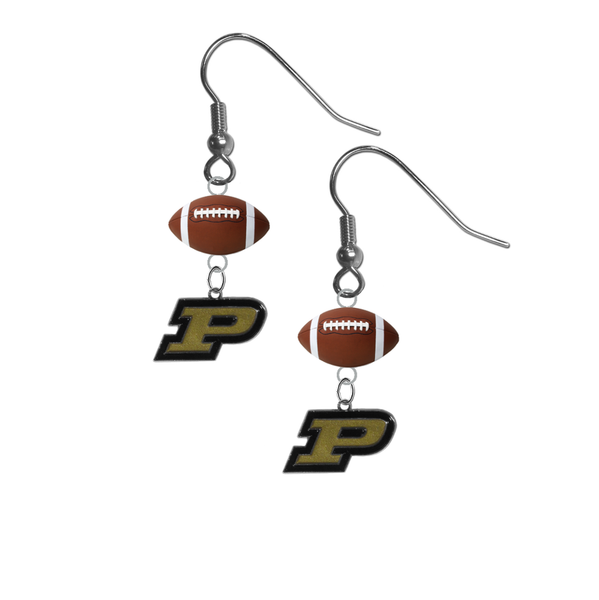 Purdue Boilermakers NCAA Football Dangle Earrings