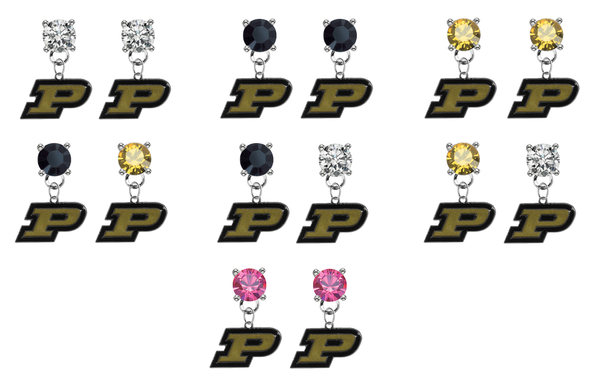 Purdue Boilermakers NCAA Swarovski Crystal Stud Rhinestone Earrings