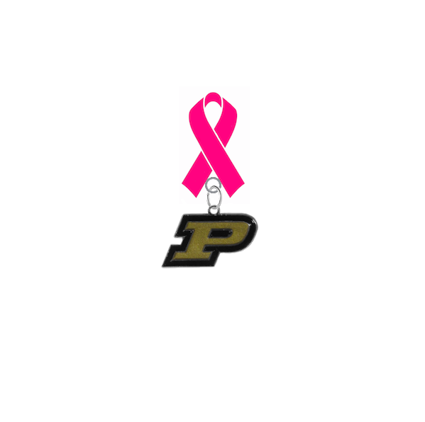 Purdue Boilermakers Breast Cancer Awareness / Mothers Day Pink Ribbon Lapel Pin