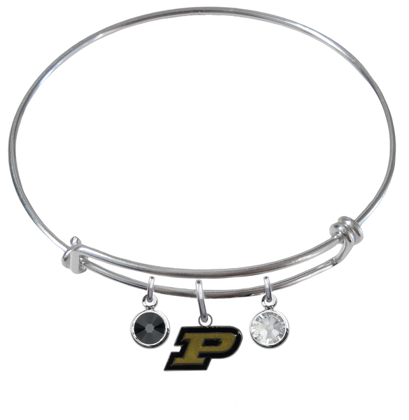 Purdue Boilermakers NCAA Expandable Wire Bangle Charm Bracelet