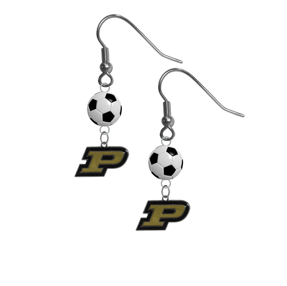 Purdue Boilermakers NCAA Soccer Dangle Earrings