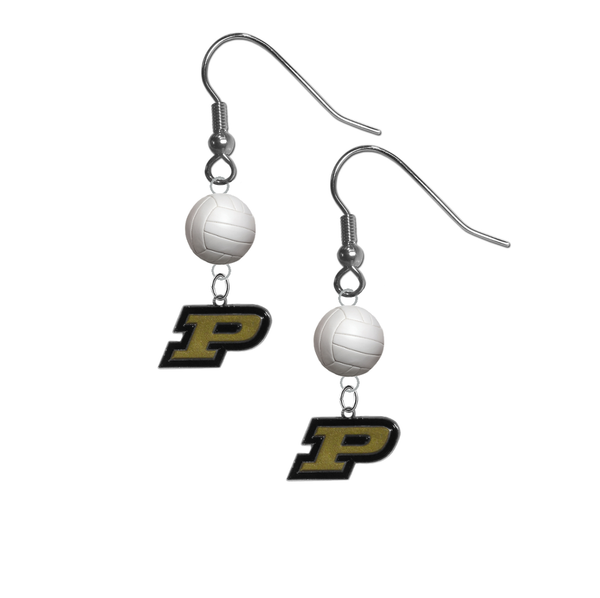 Purdue Boilermakers NCAA Volleyball Dangle Earrings