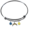 San Diego Chargers Black NFL Expandable Wire Bangle Charm Bracelet