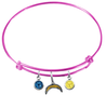 Los Angeles Chargers Pink NFL Expandable Wire Bangle Charm Bracelet