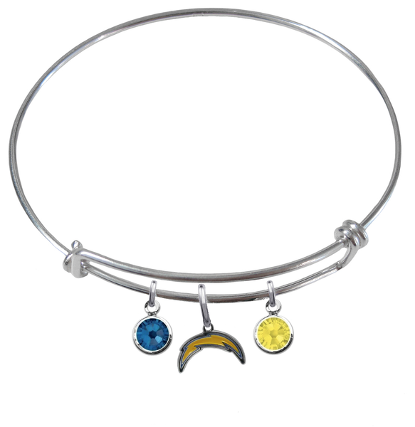 Los Angeles Chargers NFL Expandable Wire Bangle Charm Bracelet