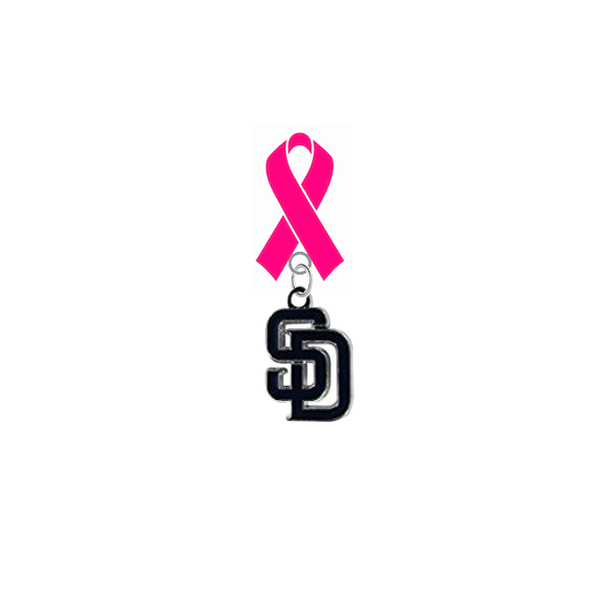 San Diego Padres MLB Breast Cancer Awareness / Mothers Day Pink Ribbon Lapel Pin