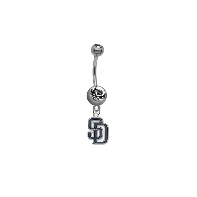 San Diego Padres MLB Baseball Belly Button Navel Ring