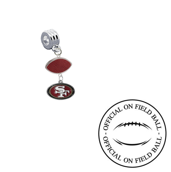 San Francisco 49ers On Field Football Universal European Bracelet Charm (Pandora Compatible)