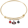 San Francisco 49ers Gold NFL Expandable Wire Bangle Charm Bracelet