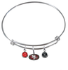 San Francisco 49ers NFL Expandable Wire Bangle Charm Bracelet