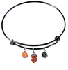 San Francisco Giants Black MLB Expandable Wire Bangle Charm Bracelet