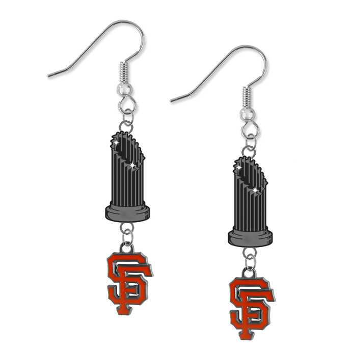 San Francisco Giants MLB World Series Trophy Dangle Earrings