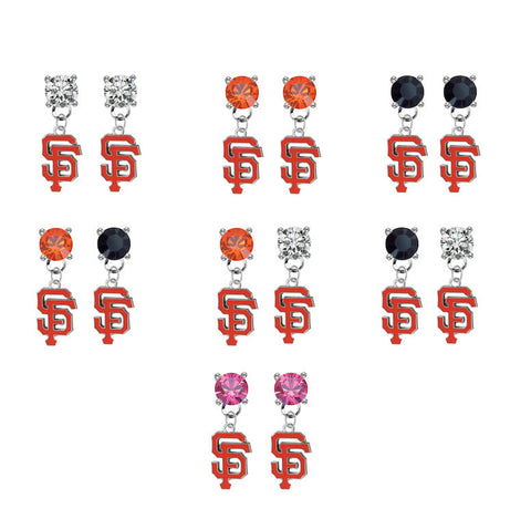 San Francisco Giants MLB Swarovski Crystal Stud Rhinestone Earrings