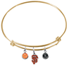 San Francisco Giants Gold MLB Expandable Wire Bangle Charm Bracelet