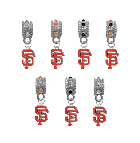 San Francisco Giants MLB Baseball Crystal Rhinestone European Bracelet Charm