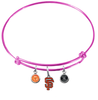 San Francisco Giants Pink MLB Expandable Wire Bangle Charm Bracelet