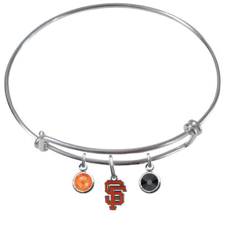 San Francisco Giants MLB Expandable Wire Bangle Charm Bracelet