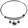 San Jose Sharks Color Edition BLACK Expandable Wire Bangle Charm Bracelet