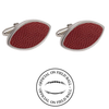 North Carolina State Wolfpack Authentic On Field NCAA Football Game Ball Cufflinks