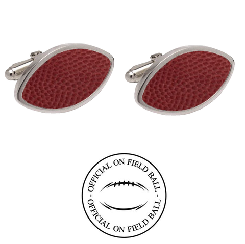 Kansas Jayhawks Authentic On Field NCAA Football Game Ball Cufflinks